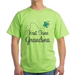 First Time Grandma Green T-Shirt