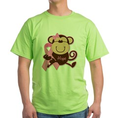 Monkey Cancer Hope Green T-Shirt