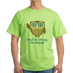 Obama Owl Green T-Shirt