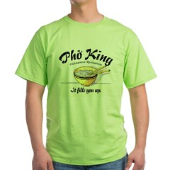 It Fills You Up Pho King Ash Grey Green T-Shirt