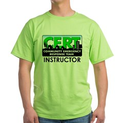 CERT Instructor Green T-Shirt