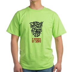 Murder of Crows 2 Green T-Shirt
