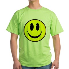 SMILEY FACE Ash Grey Green T-Shirt