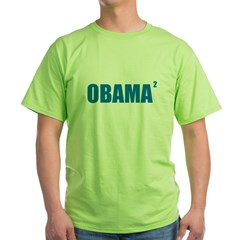 Obama Squared Green T-Shirt