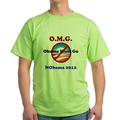 OMG Obama Must Go Green T-Shirt
