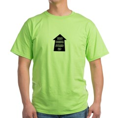BKLYN STAND UP W/ BLACK SLEEVES Green T-Shirt