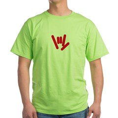 ASL Rocks: Red Green T-Shirt
