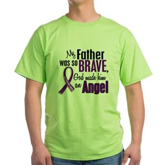 Angel 1 Pancreatic Cancer Green T-Shirt