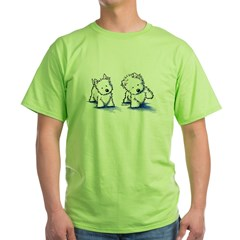 Shadowboxing Westies Green T-Shirt