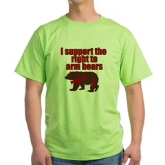 Right to arm bears Green T-Shirt