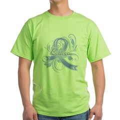 Stomach Cancer Believe Green T-Shirt