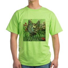 Butterfly #2 Green T-Shirt