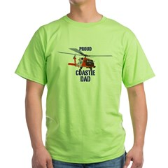 Coastie Dad Green T-Shirt