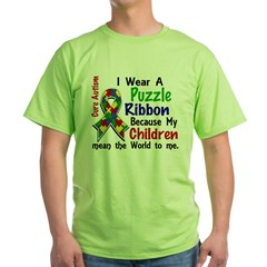 Means World To Me 4 Autism Green T-Shirt