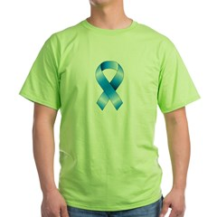 Blue Awareness Ribbon Green T-Shirt