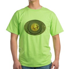 Indian gold oval 2 Green T-Shirt