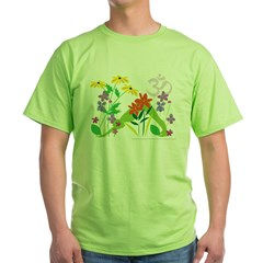 Humming Flowers by Nancy Vala Green T-Shirt