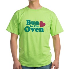 Bun in the Oven Ash Grey Green T-Shirt
