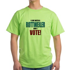 Rottweiler Vote Ash Grey Green T-Shirt