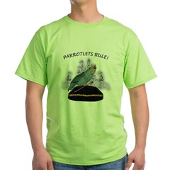 Parrotlets Rule! Blue Female Ash Grey Green T-Shirt