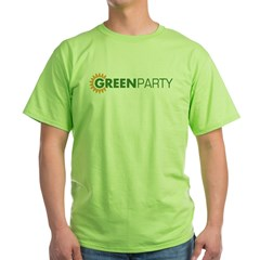 Green Party Logo (sunflower) Ash Grey Green T-Shirt