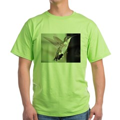 Hummingbirds 2003-0069 Ash Grey Green T-Shirt