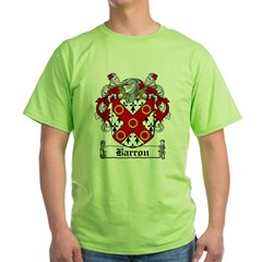 Barron Coat of Arms Green T-Shirt