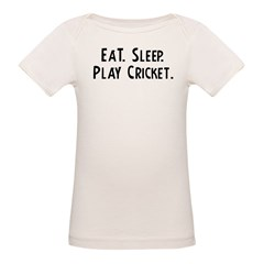 Eat, Sleep, Play Cricket Infant Creeper Organic Baby T-Shirt
