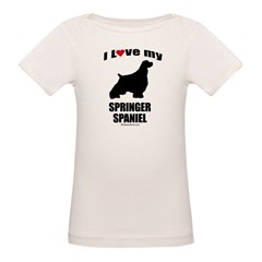 I Love my Springer Spaniel ~ Infant Creeper Organic Baby T-Shirt