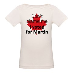 I voted for Martin Infant Creeper Organic Baby T-Shirt