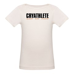 """Cryathlete"" Infant Creeper Organic Baby T-Shirt"