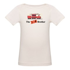 Big Brother - Trains Organic Baby T-Shirt