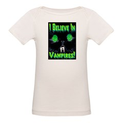 I Believe In Vampires Creepy Organic Baby T-Shirt