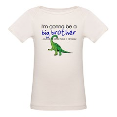 Gonna be big brother (dinosaur) Kids Organic Baby T-Shirt