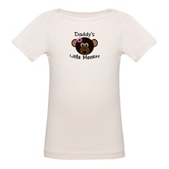 Daddy's GIRL Little Monkey Organic Baby T-Shirt