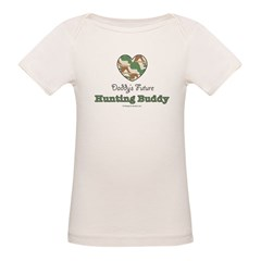 Daddy's Future Hunting Buddy Organic Baby T-Shirt