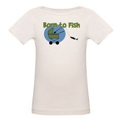 Born To Fish Organic Baby T-Shirt