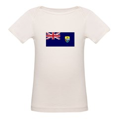 St. Helena Flag Organic Baby T-Shirt