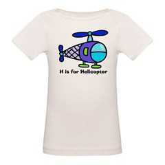 H is for Helicopter! Kids Organic Baby T-Shirt