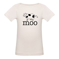 Moo the Cow Organic Baby T-Shirt
