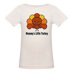 Mommy's Litttle Turkey Organic Baby T-Shirt