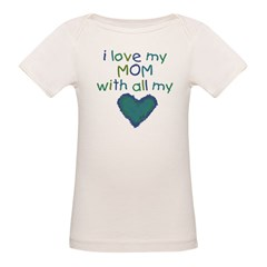 With All My Hear Organic Baby T-Shirt