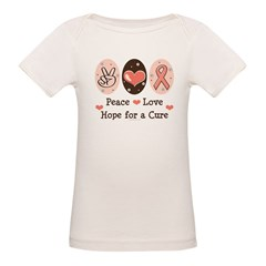 Peace Love Hope For A Cure Organic Baby T-Shirt