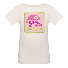 Girls Rule! Elephant Organic Baby T-Shirt