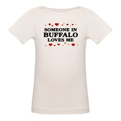 Loves Me in Buffalo Organic Baby T-Shirt