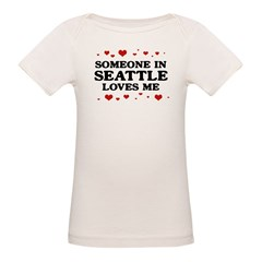 Loves Me in Seattle Organic Baby T-Shirt
