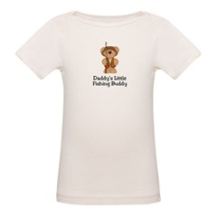 Daddy's Fishing Buddy Organic Baby T-Shirt