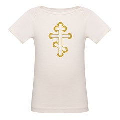 Orthodox Bottony Cross Organic Baby T-Shirt