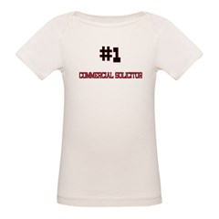 Number 1 COMMERCIAL SOLICITOR Organic Baby T-Shirt