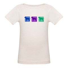 Color Row Curly Coated Organic Baby T-Shirt